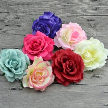 Women Girls Blooming Fabric Flower Brooch Hair Clip Boutique Hair Accessories
