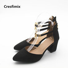 Buy Cresfimix women cute buckle strap high heel shoes lady spring summer square heel pumps female comfortable pointed toe shoes for $11.88 in AliExpress store