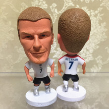 Soccerwe Classic 6.5 cm Height Resin Football Doll Kingdom 7 David Beckham Mini Figure Office Doll in White kit(China)