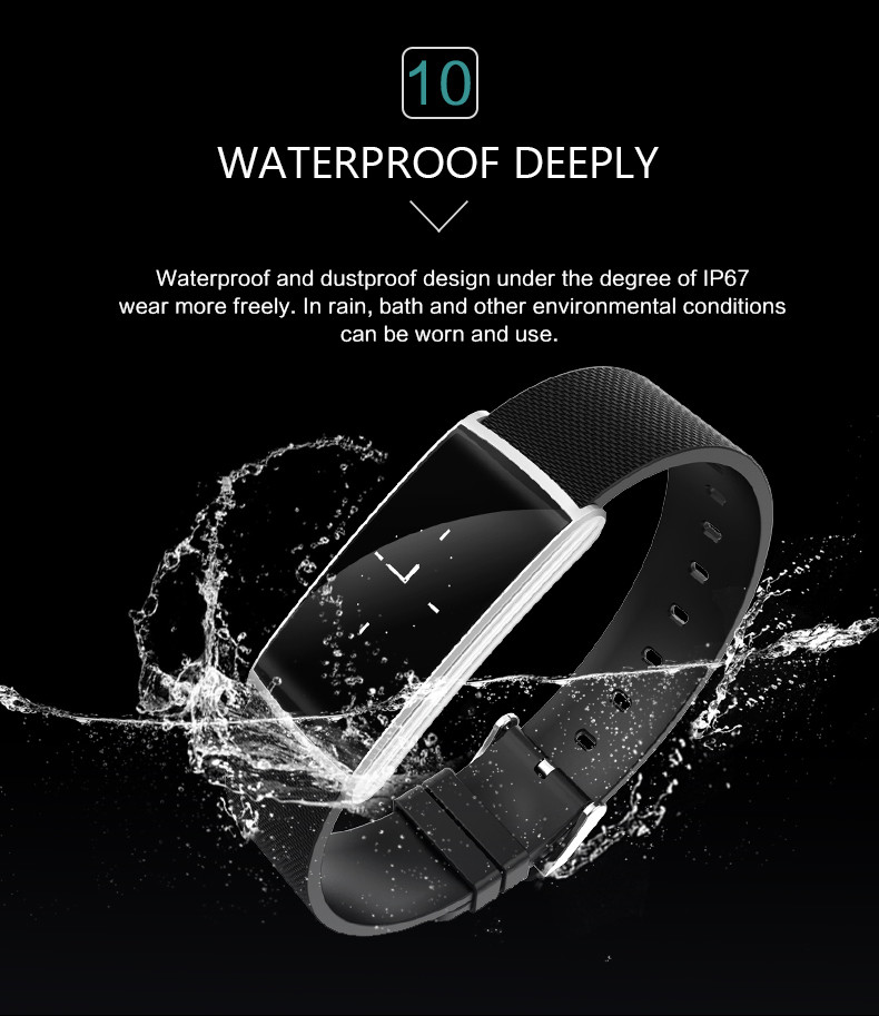 Fitness Tracker Smart Bracelet Blood Pressure Blood Oxygen Heart Rate Fatigue Monitor Wristband Sports Smartband for Phones 11