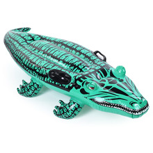 Children Inflatable Floating Row Ring Child Swimming Float Inflatable Bed Kids Summer Cartton crocodile Funny Pool Toys