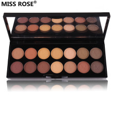 free shipping miss rose 14 Colors smoky Nude matte new shimmer eyeshadow palette for eye shadow sombra Set with brush paleta(China)
