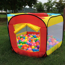 Easy Folding Ball Pit Hideaway Tent Play Hut Garden Playhouse Kids Tent Play House Indoor and Outdoor