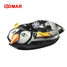 DMAR 84cm 33'' Pinguin Inflatable Snow Tube With Handle Skiing Board Sled Snow Tire Slippery Grass Sand For Adults Kids Float(China)