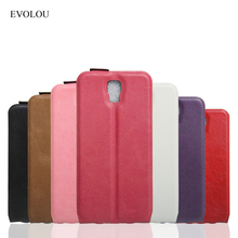 "Luxury Phone Case For Umi Rome X 5.5"" Cases EVOLOU Flip Leather Cover For Umi Rome Business Mobile Phone Bags with Card Slots"