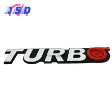 Car Styling Car Metal Aluminum 3D Emblem Badge Stickers for TURBO Logo for Skoda Volvo Infiniti VW Toyota Suzuki Subaru JEEP(China)