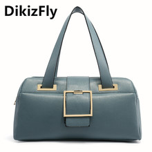 DikizFly women bags Pu Leather Tote women handbags Ladies Business Bags Female Solid Shoulder bag Travel Fashion bag Sac a main