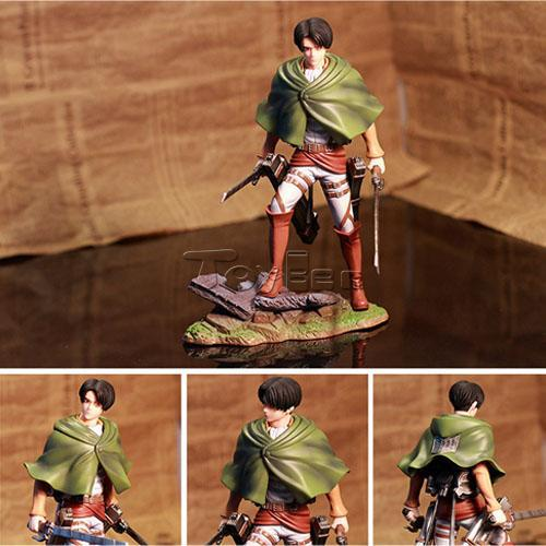 HOT Anime Shingeki No Kyojin Attack on Titan 20cm Rivaille Removable Action Figure PVC Doll Toy<br>