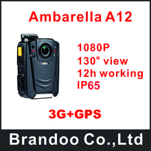 Waterproof Full HD 1080P Police Body Worn Camera With 3G and GPS