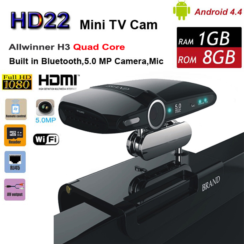 Updated HD22 Android TV BOX with 5.0MP Camera Allwinner H3 Quad Core 1G 8G  HD23 EU3000 Smart  Mini PC WIFI Google IPTV XBMC<br><br>Aliexpress