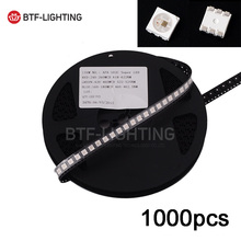Wholesale 1000 pieces APA102 LEDs Chips IC SMD 5050 RGB full dream color For Strip Screen DC5V, with DATA and CLOCK seperately