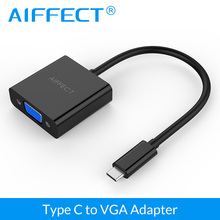 AIFFECT USB 3.1 Type C to VGA Adapter for New Macbook, Chromebook Pixel, Microsoft Lumia 950 / 950XL and other USB-C Devices(China)