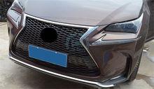 Car Grille Honeycomb Grill Bumper Vent Cover For Lexus NX200 200T 300h 2015- 2018(China)