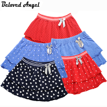 Beloved Angel 1-16 Y Girls Skirt Latest 5 Style Cotton Double Layer Skirts Kids Princess TUTU Skirt Children Dance Party Skirts