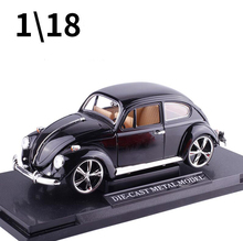 Hot sale MZ classical DIE-CAST Metal alloy model car 1:18 volkswagen beetle bubble collection birthday gift 1pc Free shipping