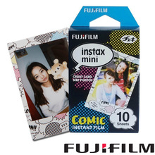Genuine Fujifilm Instax Mini Film Comic 10 sheets Instant Shoot Photo Paper For Mini 8 8 Plus 70 25 90 Camera Share SP-1 SP-2