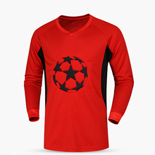 Survetement football 2017 soccer jerseys quick dry men goalkeeper jerseys padded soccer goalie training jersey soccer shirts XXL