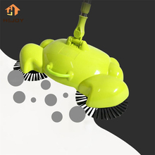 Lazy Automatic Hand Push Sweeper Magic Sweeper Spinning Broom Sweeping Mop Magic Spin Broom Cleaner Stainless Steel Swab