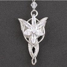 Free Shipping Gift Bags Wholesale fashion jewelry gothic movie The Lord of the R ings Fairy Princess star necklace Sweater chain