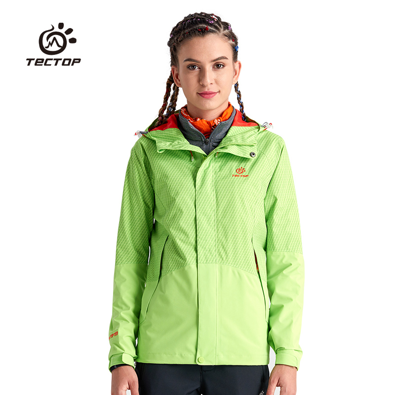 Tectop male men Women Full pressure plastic heat sealing single tier waterproof windproof lovers design hiking/outdoor jackets(China)