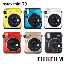 6 Colors Fujifilm Instax Mini 70 Instant Photo Camera Passion Red / Midnight Black / Island Blue / Stardust Gold /White /Yellow(Hong Kong)