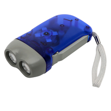 ITimo Novelty Lighting Crank Power Torch Light White Camping Lamp 2 LED Flashlight Mini Portable Light Hand Pressing Dynamo