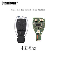 Stenzhorn 5pcs*3Buttons 433Mhz Remote Key Mercedes Benz year 2000+NEC&BGA style Mercedes-Benz IYZDC07 car key +Blade