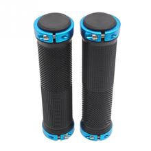ROCKBROS 1 Pair MTB Mountain Bike Grips Rubber Lock On Handlebars Lock-on Grips Fixed Gear Fixie Grips End knock off