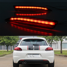 Car Flashing For Volkswagen VW Scirocco R GTS Rline 2011 2012 2013 2014 2015 Led rear bumper lights Braking Driving Turning lamp