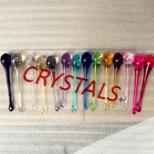 Mixed Colors 16*60mm 20*80mm Prisms Water Drop Chandelier Ornaments Crystals Raindrop Glass Lamp Parts Decoration 10/14/50pcs