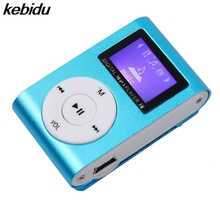 kebidu New LCD Screen Metal Mini Clip MP3 Player with Micro TF/SD Slot with Earphone and USB Cable Portable MP3 Music Players(China)
