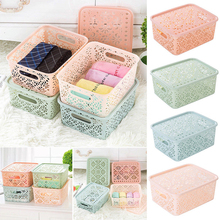 Storage Bin Closet Clothes Box Container Organizers Home Plastic Cube Basket 1x(China)