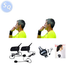 2 Referees Talk same time Football Referee Coach Headset Judger Arbitration Walkie Talkie Earphone for football referee