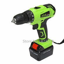 21V Electric Drill Household Multi-function Electric Screwdriver Double Speed Lithium Cordless Drill Power Tools