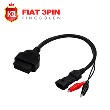 Wholesale Free Shipping for Fiat 3pin Alfa Lancia to 16 Pin Diagnostic Cable