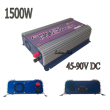 New Arrive 1500W Grid Tie Power Inverter Pure Sine Wave 45-90V DC to AC 110/220V Solar grid tie Inverter Free Shipping