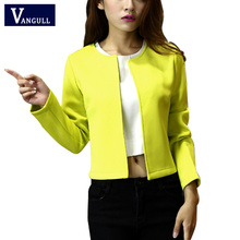 Basic Jackets 2017 Fashion Long Sleeve Ladies Jacket O neck Color Jackets Women Slim Coats Tops Feminino chaquetas mujer