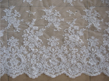 New Design French Lace Fabric,Bridal French lace Chantilly Lace Fabric retail
