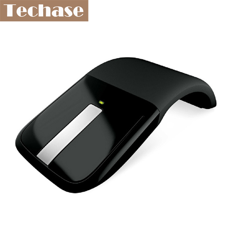 Wireless Mouse Sem Fio 2.4Ghz Microsoft Mouse Black For PC Laptop Foldable Flat Touch With USB Reciever Free Shipping Slim Mouse(China (Mainland))