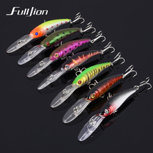 1 pcs Fishing Lures Hard Bait Minnow Tackle Wobbler Fishing Accessory 3D Eyes With Hooks Plastic Pesca Isca Artificial 10cm 7.6g