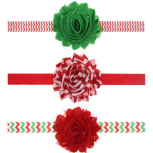 New! Child Chiffon Flower Headband Little Girls Headband hairbands Newborn Christmas hair accessories for New Year 1pc HB476