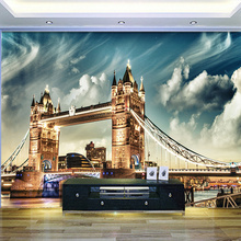 London City Photo Wallpaper Customized London Tower Bridge Several Kinds Style Modern Vintage Nostalgic European Architectural