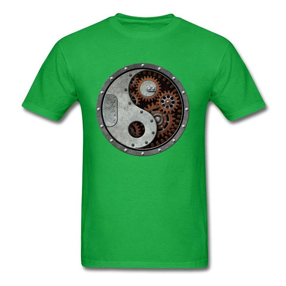 Industrial Steampunk Yin Yang_green