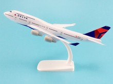 20cm Alloy Metal AIR American DELTA Airways Plane Model Boeing 747 B747 Airlines Airplane Model W Stand Aircraft Gift