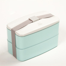 BPA Free Reusable Lunch Bento Box with Cutlery Food Storage Canteen Fashion Style Lunchbox 3 Colors for Option