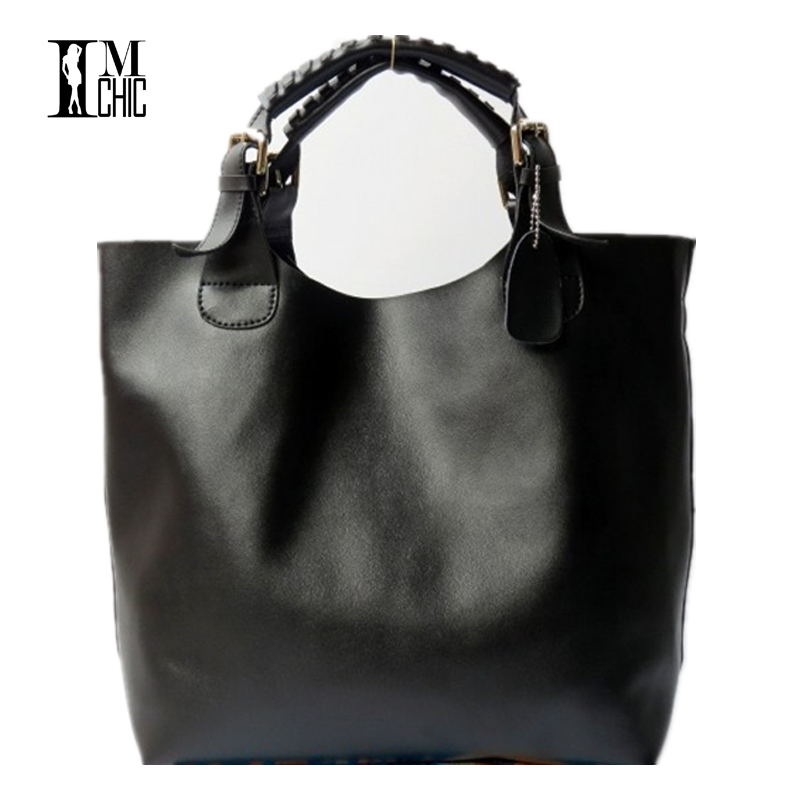 Brand Designer Big Bucket Women Tote Bags Luxury OL Women Shoulder Handbags Vintage Oil Leather Tablets Top Handle Bag <br>
