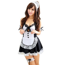 Buy Sexy Maid Costumes Porn Babydoll Lingerie Sexy Hot Erotic Lace Servant Girl Maid Cosplay Uniform Erotic Underwear Women