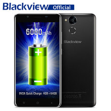Blackview P2 MTK6750T Octa Core Smartphone 6000mAh battery 4G RAM 64G ROM 5.5 Inch Android 6.0 Fingerprint FDD LTE Mobile Phone