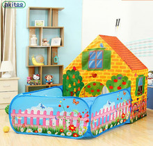 New arrival akitoo super big Children Tent Indoor Game House Princess Baby Toy House Big House With Garden hot sale