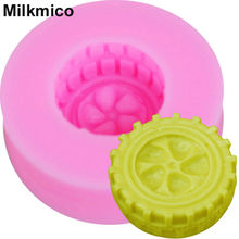 Milkmico M653 1PCS Car Tires Shape Soft Chocolate Silicone Mold Fondant Cake Molds Candy Biscuits Moulds DIY Wedding Decoration(China)